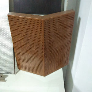 Wood Color Aluminium Hpneycomb Perforated Sound Insualtion Panels pictures & photos