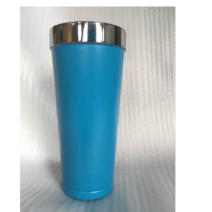 20oz Double-Wall Stainless Steel Vacuum Insulated Travel Tumbler with Dark Blue Powder Coating