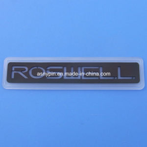 Customized Rubber Logo label Patch with Magic Tape Back pictures & photos