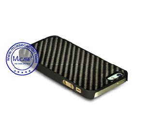 Fashion Design Carbon Fiber Rubberized PC Plastics Mobile Phone Cover for iPhone 5se pictures & photos