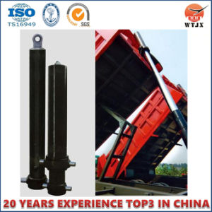 Front Mount Telescopic Hydraulic Cylinder for Large Ton Dump Truck pictures & photos