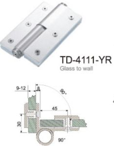 Hydraulic Glass Door Accessories Aluminum Hinge (TD-4111-YYR) pictures & photos