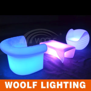 LED Lighting Home Lounge Furniture Sofa Set pictures & photos