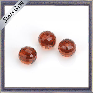 Garnet Red Color Faceted Cut Round Glass Beads pictures & photos