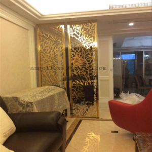 Luxury Metal Room Dividers Color Stainless Steel Decorative Screen For Separate