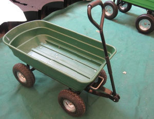 Plastic Dump Cart with Four Wheel pictures & photos