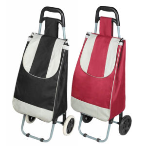 Custom Cheap Folding Shopping Trolley Bag with 2 Wheels (SP-528) pictures & photos