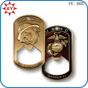 Dog Tag Shape Challenge Coin with Opener Usage pictures & photos