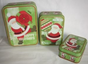 Rectangular Gift Tin Cookies Boxes with Printing Custom Logo pictures & photos