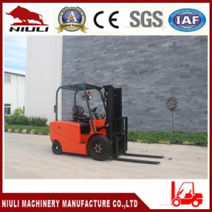 2.5tons Niuli Four Wheels Electric Counterbalanced Forklift pictures & photos