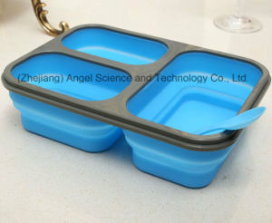 Silicone Food Storage Container Foldable Bento Lunch Box Sfb09 pictures & photos
