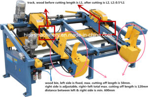 Sf602 Double End Trim Saw Wood Pallet Cutting Making Machine pictures & photos