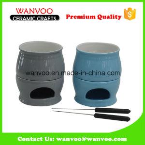 Mini Ceramic Cheese Chocolate Fondue Pot pictures & photos