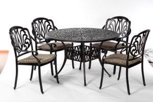 Leisurely Garden Amalfi 5 Piece Dining Set Furniture with Cushion pictures & photos