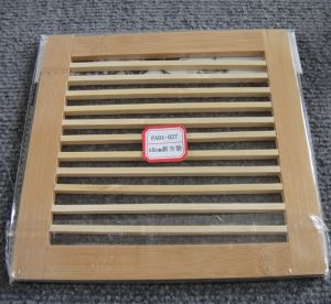(BC-M1011) Handmade Natural Bamboo Square Heat Insulation Mat pictures & photos