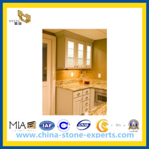 Cheap Yellow Wood Grain Marble Countertop pictures & photos