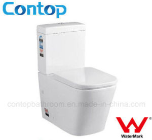 Australian Populas Wc Sets Washdown Two Piece Toilet with Watermark pictures & photos