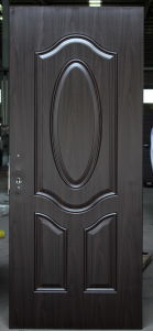 Decorative Interior Primed American Steel Door Skin Panels with Embossed Flower pictures & photos