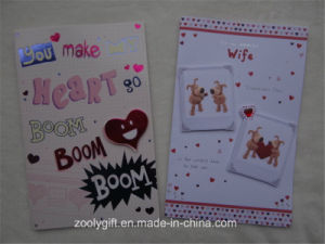 2D 3D Die-Cut Decorated Printing Holiday Greeting Card and Envelop pictures & photos