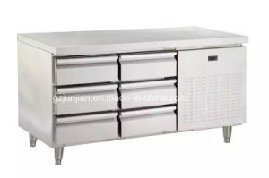 Customized Stainless Steel Work Table Refrigerator with Six Drawer pictures & photos