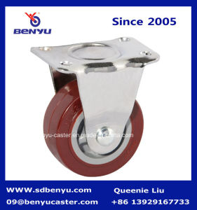 Patent Polyurethane Caster Screw Top with Side Break Wheel pictures & photos