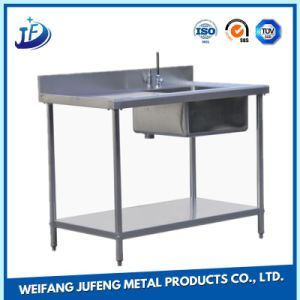 OEM Carbon Steel Brush Holder Metal Fabrication Stamping Single Bowl Sink Board pictures & photos