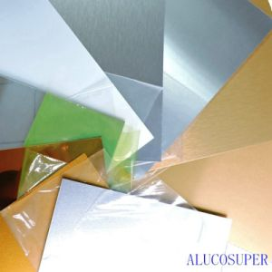 Silver and Gold Satin Heat Transfer Sublimation Aluminum Sheet pictures & photos