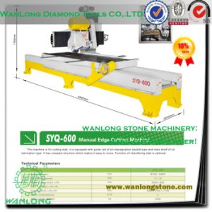 Syq-600 Marble Tile Cutting Machine-Manual Work Stone Panel Edge Cutter pictures & photos
