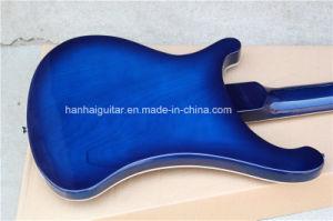 Hanhai Music / Dark Blue Electric Bass Guitar pictures & photos