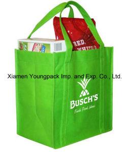 Eco Friendly Green Non-Woven Reusable Grocery Bag pictures & photos