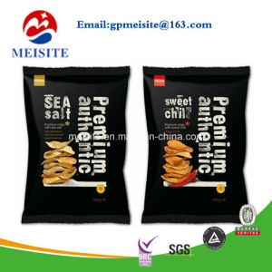 Matte Stand up Dried Food Packaging Plastic Zip Lock Bags Round Window Black Mylar Bags pictures & photos