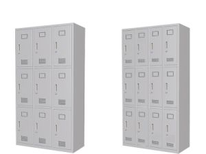Customized School Storage Lockers with 12 Doors pictures & photos