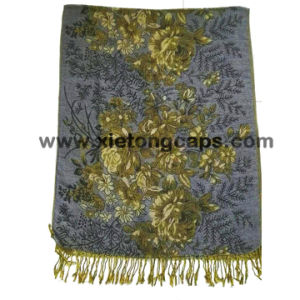 2017 Ladies Gray Fashion Style Jacquard Scarf pictures & photos
