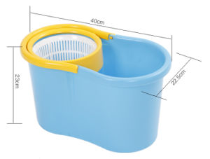 360 Degree Spin Small Plastic Bucket Mop with Pedal with Wringer
