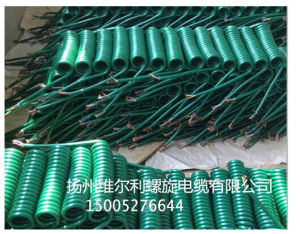 7 Cores Plug Trailer Spiral Coiled Cable