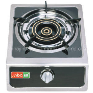 Single Burner Blacked Coated Panel Gas Stove pictures & photos