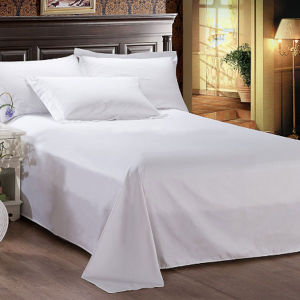 White Cotton Satin Hotel Duvet Cover (DPFB8055) pictures & photos