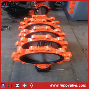 Wafer/Lug Type Centre Sealing Rubber Lining Butterfly Valve pictures & photos