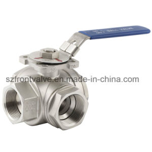 Stainless Steel Screwed Three Way Ball Valve pictures & photos