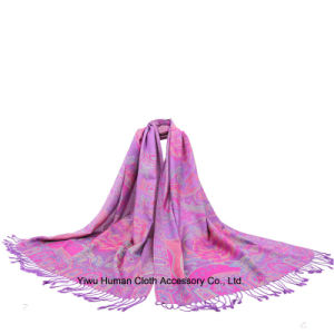 Chinese Peony Flowers Shawl Scarf for Women pictures & photos