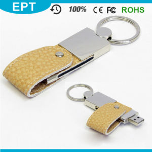 Leather Keychain Embossed Logo USB Flash Drive for Gift (EL-601) pictures & photos