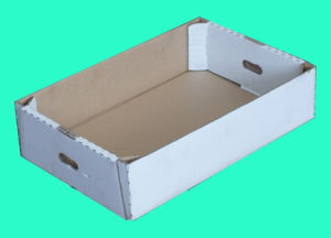Recycled Corrugated Packaging Folding Paper Box with Handle pictures & photos
