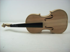 Unvarnished Solid Violin Musical Instruments Student Violin pictures & photos