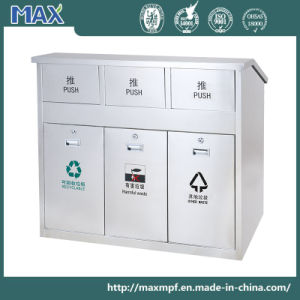 Separate Three Compartment Recycling Waste Bin for Outdoor pictures & photos