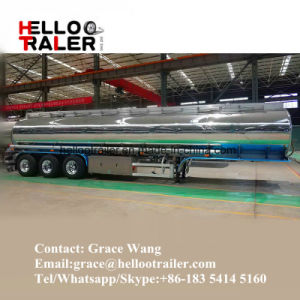 3 Axle 42000L Aluminum Fuel Tank Trailer with Air Bag Suspension Made in China pictures & photos