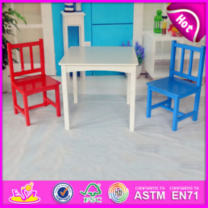 2015 New Arrival Kids Table and Chair Set, Modern Child Study Table and Chair, Portable Christmas Wooden Table and Chairs Wo8g144 pictures & photos