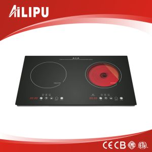 Built-in Double Burner Combined Induction and Infrared Cooktop Sm-Dic08A-1 pictures & photos