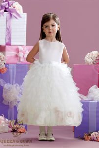 Puff Bride Wedding Flower Girl Dress, Factory Direct pictures & photos
