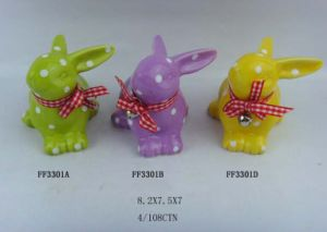 Colorful Ceramic Rabbit with Dots pictures & photos