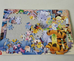 Custom Printing Tiger Toying Jigsaw Puzzle pictures & photos